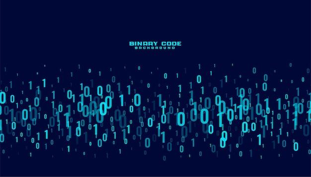 Fundo de números de dados digitais de código binário