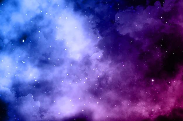 Fundo de nuvens coloridas realistas