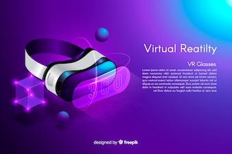 Fundo de óculos isométricos VR