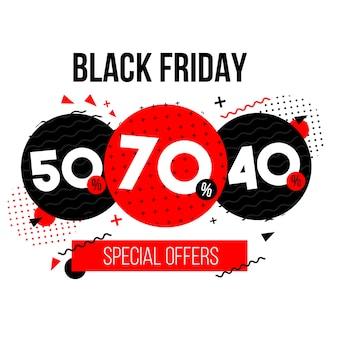 Fundo de ofertas especiais de sexta-feira negra