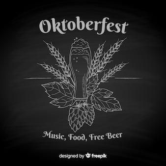 Fundo de oktoberfest de quadro-negro