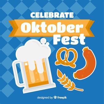 Fundo de oktoberfest design plano