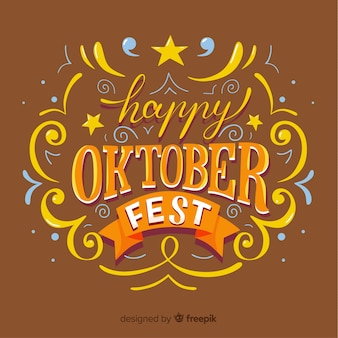 Fundo de oktoberfest moderno com letras