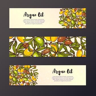 Fundo de óleo, layouts de design de panfletos ecológicos