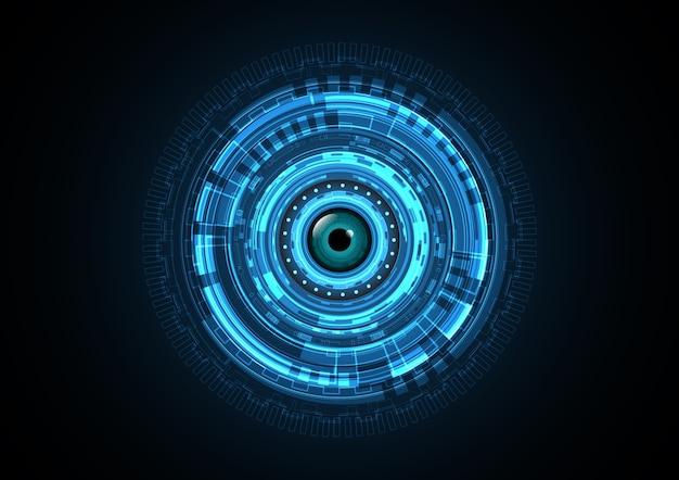 Fundo de olho de círculo futuro abstrato de tecnologia