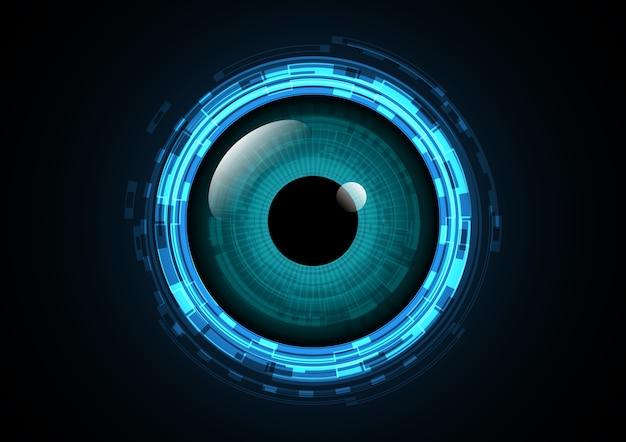 Fundo de olho futuro de tecnologia abstrata