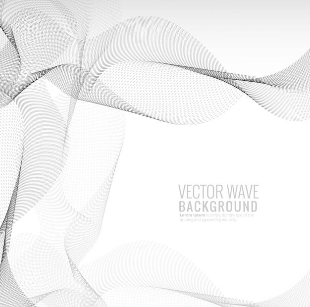 Fundo de onda abstrata elegante tecnologia pontilhada