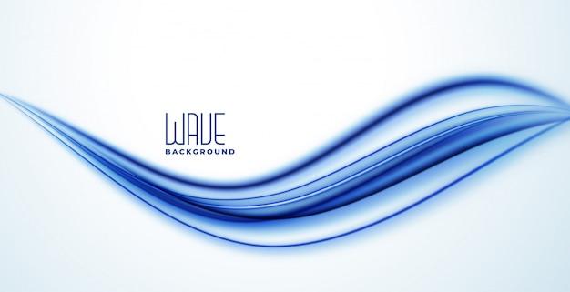 Fundo de onda abstrata linha azul