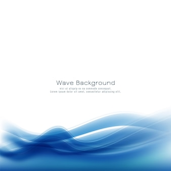 Fundo de onda azul abstrato