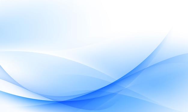 Fundo de onda azul e branco fundo suave