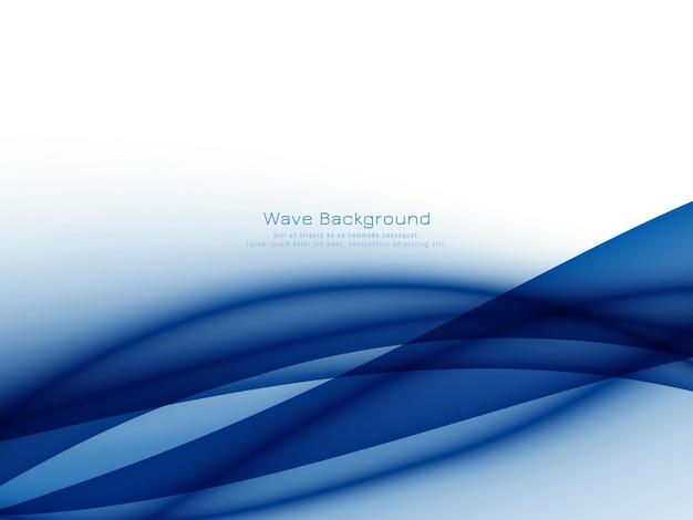 Fundo de onda azul elegante abstrato