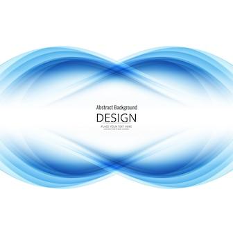 Fundo de onda azul moderno