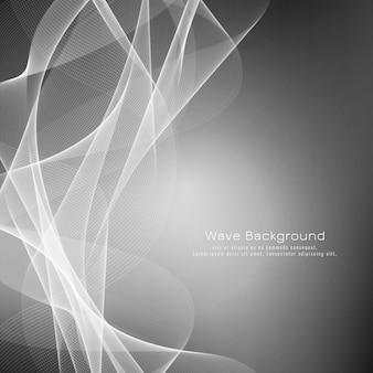 Fundo de onda cinza abstrato