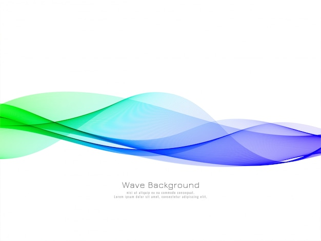 Fundo de onda colorido elegante e elegante