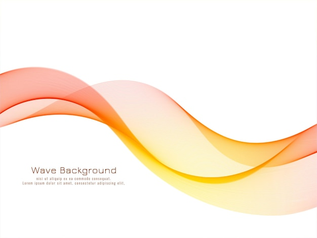 Fundo de onda colorido moderno e elegante