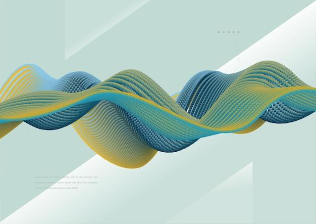 Fundo de onda criativa com partícula colorida