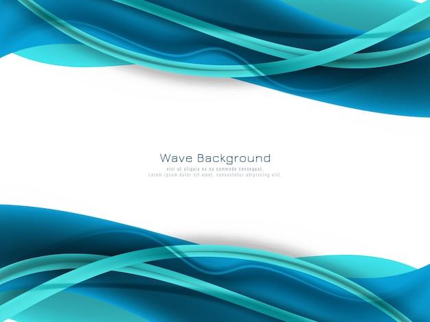 Fundo de onda de cor azul abstrato
