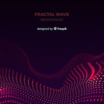 Fundo de onda de fractal