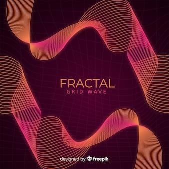 Fundo de onda de grade fractal