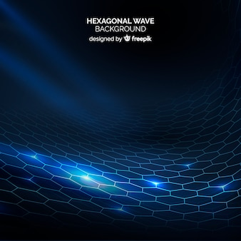Fundo de onda de grade hexagonal