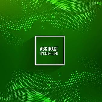 Fundo de onda de meio-tom verde lindo