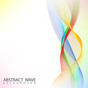 Fundo de onda de mistura de cor abstrata