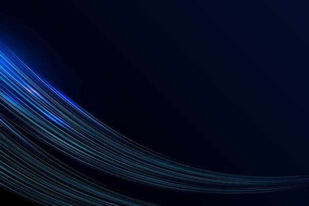 Fundo de onda de néon brilhante com borda azul futurista