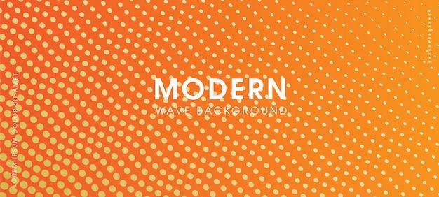 Fundo de onda de partícula laranja moderno