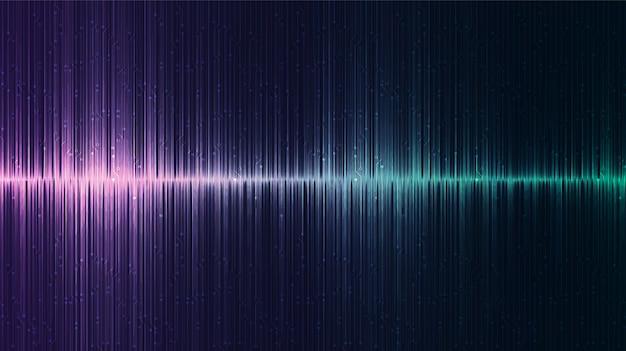 Fundo de onda de som digital de equalizador escuro