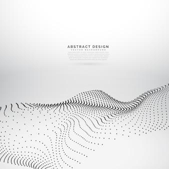 Fundo de onda dinâmico de onda de partículas 3d