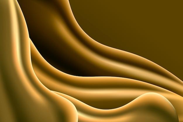 Fundo de onda dourada lisa contrastada