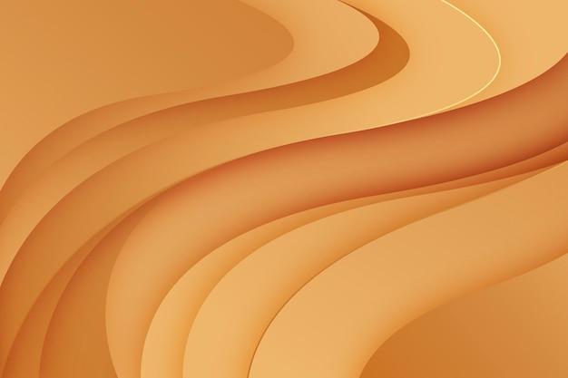Fundo de onda dourada suave
