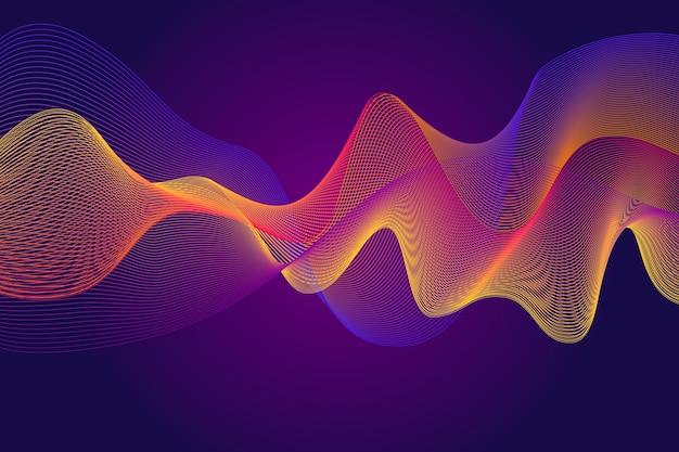 Fundo de onda equalizador gradiente