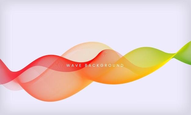 Fundo de onda fluida colorido abstrato modelo de design suave de movimento moderno