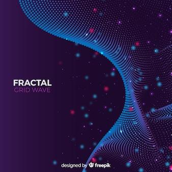 Fundo de onda fractal