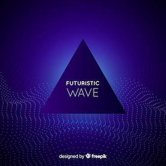 Fundo de onda futurista