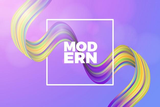 Fundo de onda gradiente moderna