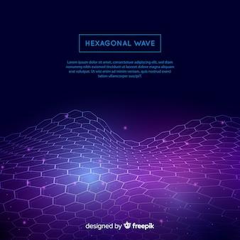 Fundo de onda hexagonal