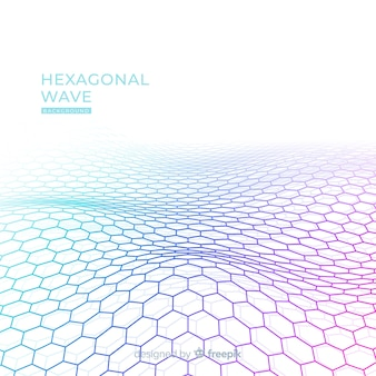 Fundo de onda hexagonal