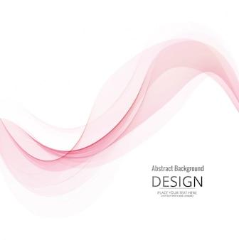 Fundo de onda rosa moderno