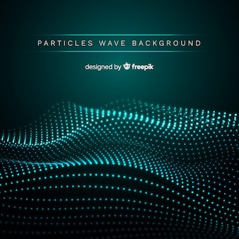 Fundo de onda sonora de partículas