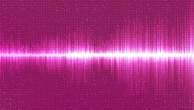 Fundo de onda sonora digital rosa