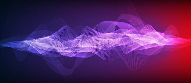 Fundo de onda sonora digital ultra violeta