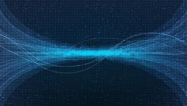 Fundo de onda sonora digital
