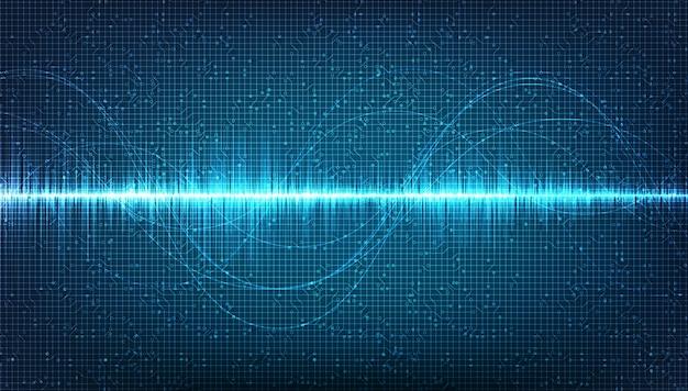 Fundo de onda sonora eletrônica