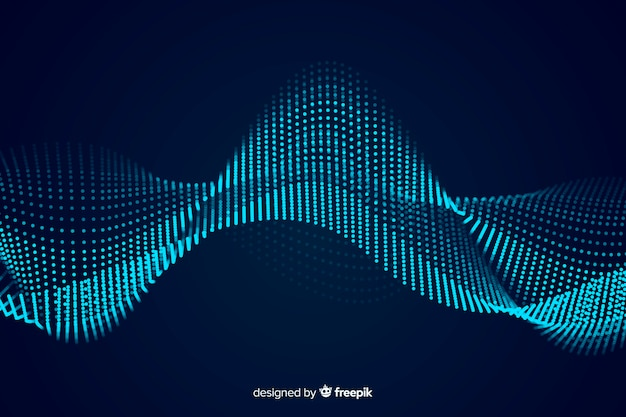 Fundo de onda sonora