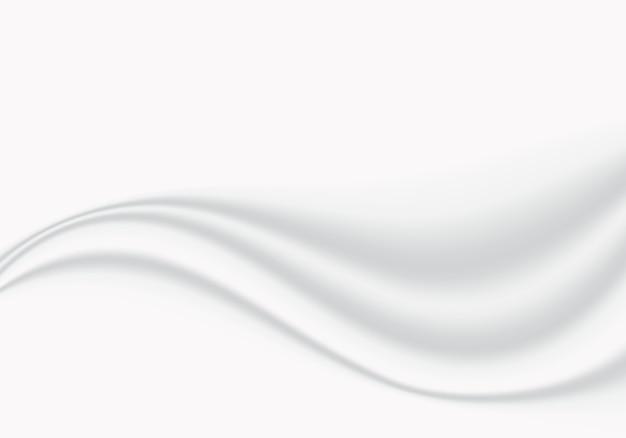 Fundo de onda suave suave pano branco abstrato