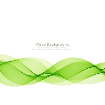 Fundo de onda verde moderno e elegante