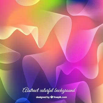 Fundo de ondas abstratas coloridas