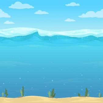 Fundo de ondas de água.